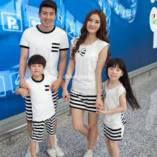 family dress alikes summer s korean and a striped t
