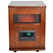 how do infrared heat ls work lifesmart 1500 watt 6 element infrared room heater with oak cabinet