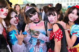 halloween parties costumes halloween in japan shibuya street party costume pictures