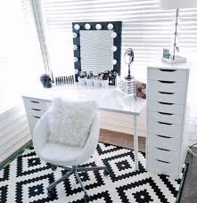 black makeup desk with drawers diy vanity mirror with lights for bathroom and makeup station