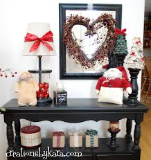 Table Decorations For Christmas by Diy Christmas Decorating Entry Table