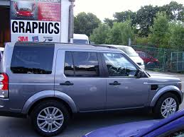 land rover silver land rover discovery wrapped in gloss anthracite metallic from