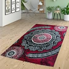Wohnzimmer Design Rot Klassischer Orientteppich Design Kurzflor Wohnzimmer Ornamente Rot