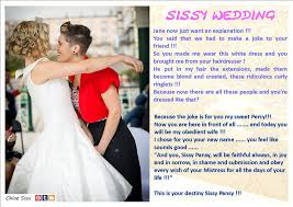 wedding dress captions sissy wedding by chloesissi on deviantart