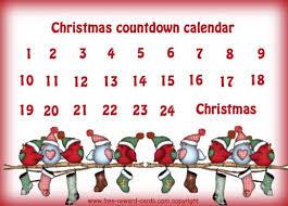 christmas countdown calendar christmas countdown calendar 5 anything countdown