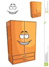cartoon wooden bedroom cupboard or wardrob stock vector image