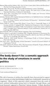 First Page Of Resume The Body Doesn U0027t Lie A Somatic Approach To The Study Of Emotions