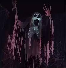 life size animated zombie skeleton peeper reaper halloween prop