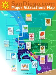 San Diego Beaches Map by Visit San Diego Beaches Tourism