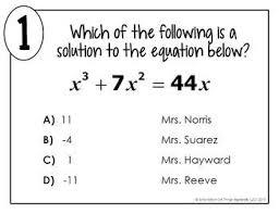 polynomial equations math lib by all things algebra tpt