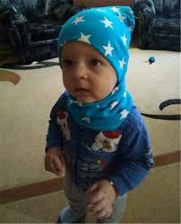Stripe Knit Baby Cap Scarf 2pcs Baby Hat Scarf Set Newsboy Caps