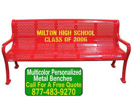 Personalized Park Bench Outdoor Park Benches Archives Commercial Outdoor Furniture Sales