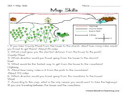 worksheets 4th grade map skills worksheets atidentity com free