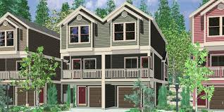 duplex house plans for narrow lots narrow lot townhouse plans duplex house leveld small with garage