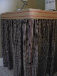 how to laundry sink skirt i have been wanting to do this for