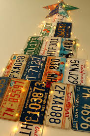 license plate tree a of rainbow