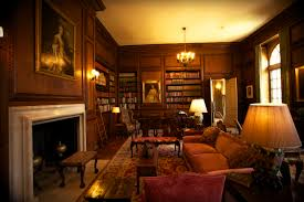 interior cozy library room design with calm library room