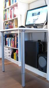 desk and bookshelves billy desk ikea hackers ikea hackers