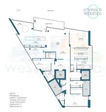 St Regis Residences Floor Plan Aqua Condos For Sale Downtown Sarasota Fl