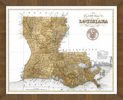 South Louisiana Map by Old Map Of Louisiana U2013 A Great Framed Map That U0027s Ready To Hang