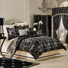 Black And White King Bedding Bedroom Comforter Sets King With White Door And Wall Sconces Also