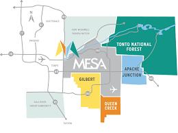 mesa az map visit mesa arizona trip planning visitor info weather photos