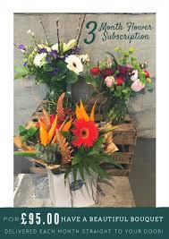 flower subscription three month flower subscription café des fleurs
