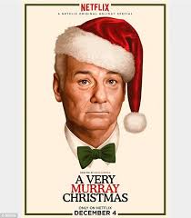 miley cyrus performs silent night for bill murray u0027s netflix