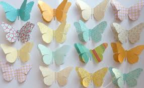 paper decorations cottage studio large paper butterflies party decorations