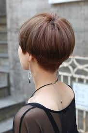 Mushroom Hairstyle Back View Of Cute Short Japanese Haircut Back View Of Bowl