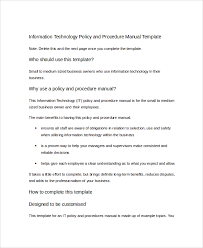 how to create policies and procedures manual template
