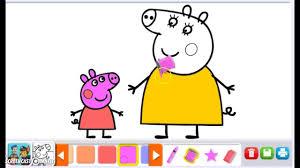 coloring games peppa pig coloring mama pig hd nick jr color