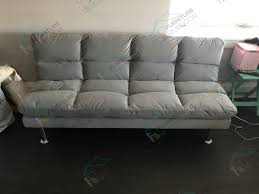 Grey Leather Reclining Sofa by Contemporary Style Gray Microfiber Pillow Top Adjustable Sofa Futon