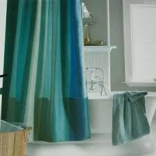 aquamarine multistripe blue aqua green fabric shower curtain home