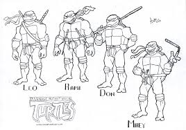 cartoon printable teenage mutant ninja turtles coloring pages