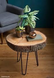 Wood Slab End Table by Diy Wood Slice Table Diy Wood Woods And Coffee