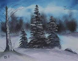 christmas tree oil paintings cheminee website