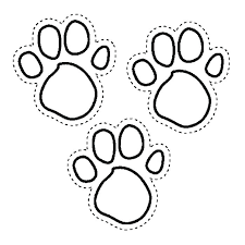 paw print sheets dog paw print coloring sheets dog paw print coloring sheets blues