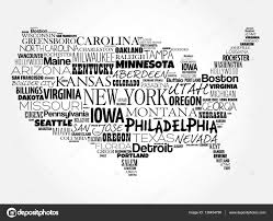 Vector Usa Map by Usa Map Word Cloud Collage U2014 Stock Vector Dizanna 139454790