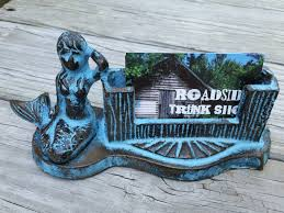 Nautical Desk Accessories by Cast Iron Mermaid Business Card Holder Desk Accessories