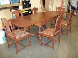 antique draw leaf table deal of the day 9 22 17 antique draw leaf dining table 6 chairs