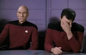 Jean Luc Picard Meme - star trek which episode is the double facepalm image macro