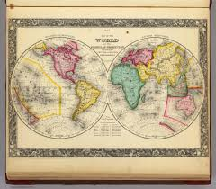 World Map Hemispheres by Map Of The World On The Globular Projection David Rumsey