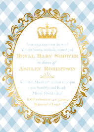 royal baby shower invitation red u0026 royal blue prince boy