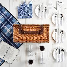picnic basket set for 4 vonshef 4 person wicker picnic basket set with