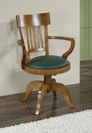 chaise de bureau en bois à fauteuil de bureau ludovic en hêtre massif tournant assise verte