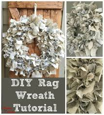 diy rag wreath tutorial under 10 wire wreath forms scrap