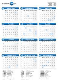 Kalender 2018 Helgdagar Kalender 2018