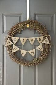 burlap thanksgiving banner 8 thanksgiving wreaths to make your guests feel instantly welcome