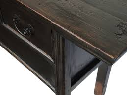 Black Console Table With Drawers Black Asian Vintage Console Table With Drawers Custom Furniture